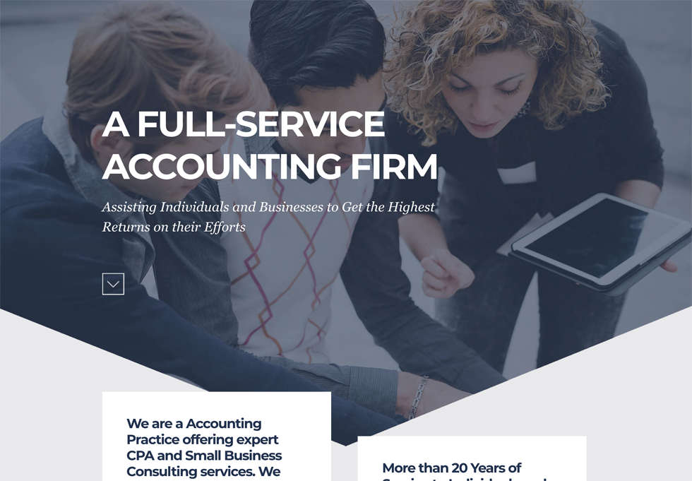 Accounting - WordPress website design services