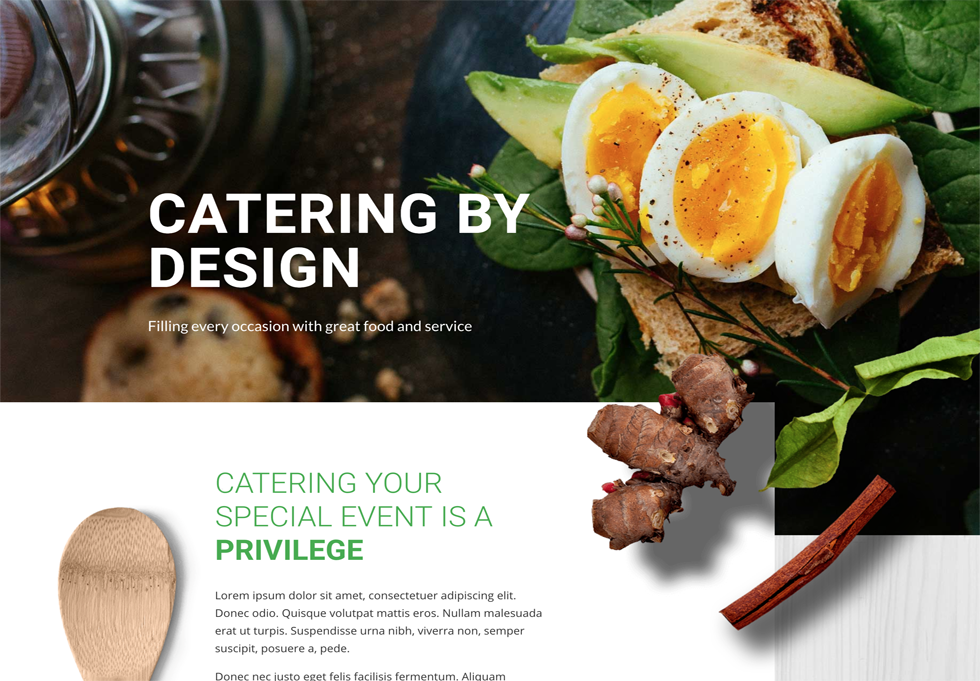 Catering - WordPress website design services