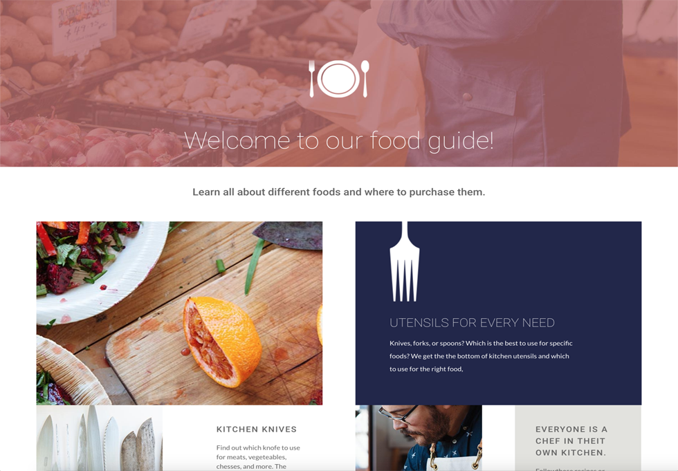 Foodie - WordPress website design services