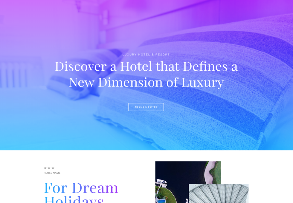 Hotel - WordPress website design services