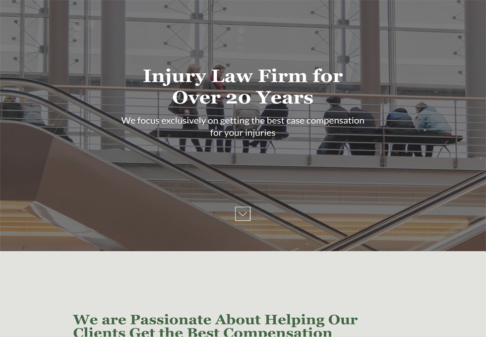 Law - WordPress website design services