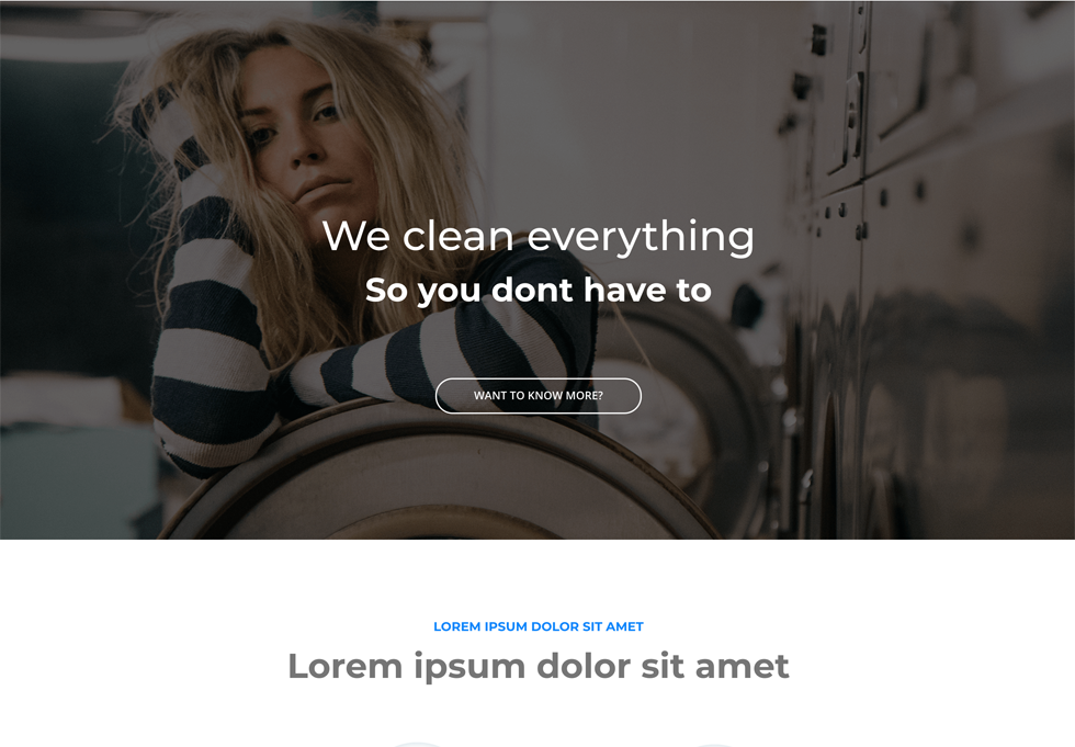 Laundry - WordPress website design services
