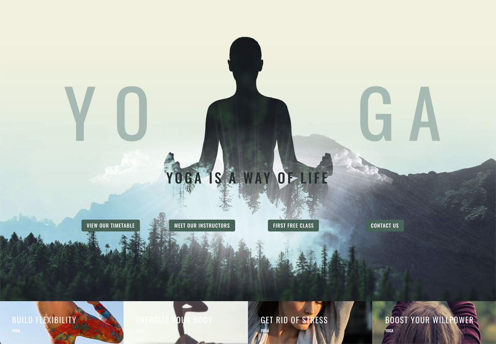 Yoga - WordPress website design services
